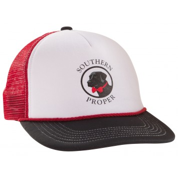 Old Pro Hat: Red, White and Black
